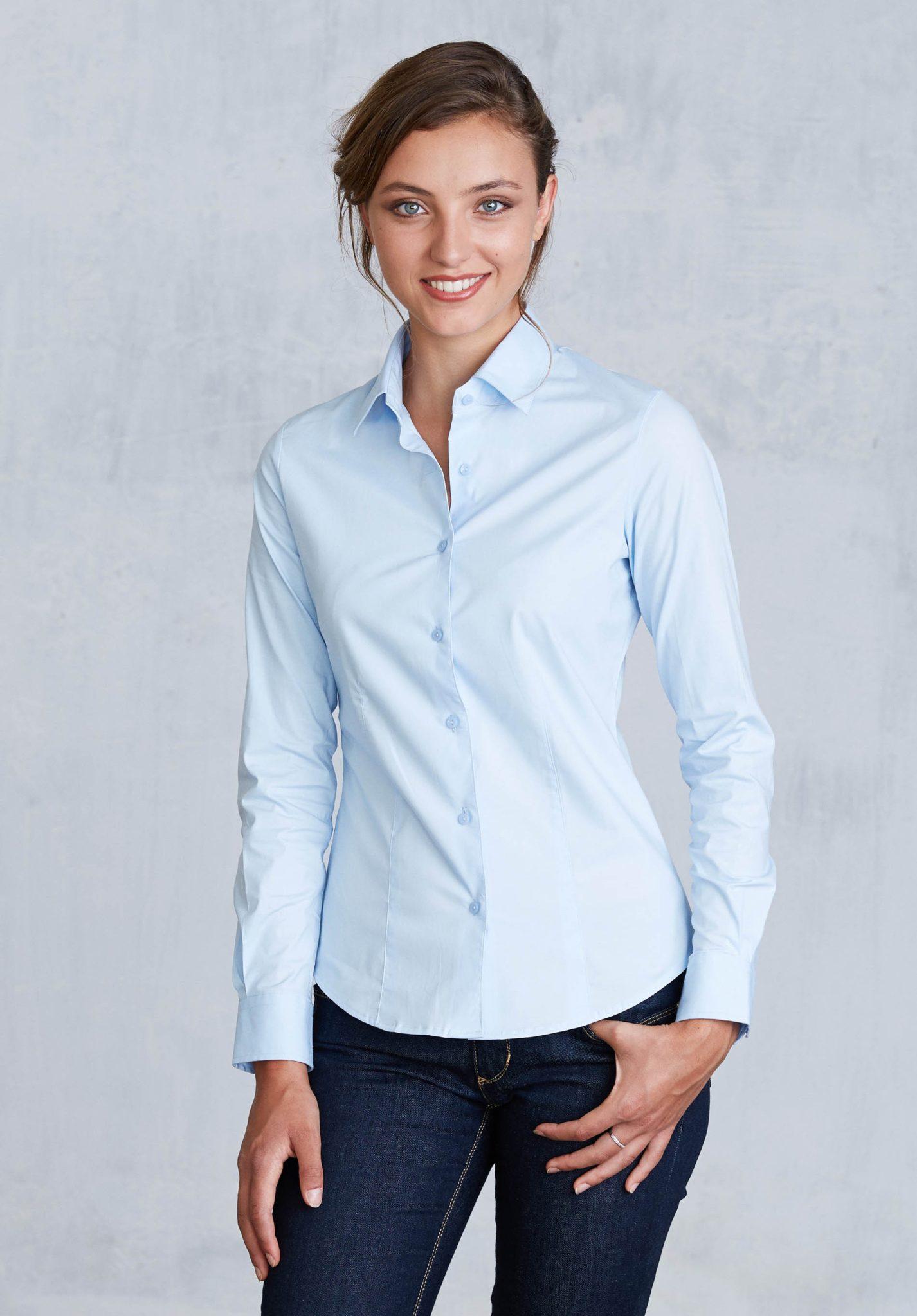 K530 2016. Previous. Stretch Langermet Skjorte fra Kariban for Kvinner c88248cb52010